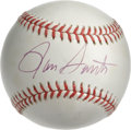 Autographs:Baseballs, Ron Santo Single Signed Baseball. Fiery Cubs third baseman of manyyears, Ron Santo here makes a splendid memento with the ...