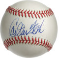 Autographs:Baseballs, Carlton Fisk Single Signed Baseball. The New England backstop heroCarlton Fisk holds legendary status among Red Sox faithf...
