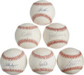 Autographs:Baseballs, Modern Baseball Stars Single Signed Baseballs Lot of 6. One halfdozen official baseballs offered here each boast a sweet s...