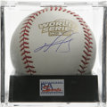 "Autographs:Baseballs, David Ortiz 2004 World Series Single Signed Baseball, PSA Mint+9.5. ""Big Papi"" will forever be a Boston hero after his hero..."