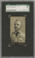Baseball Cards:Singles (Pre-1930), 1895 Mayo's Cut Plug N300 Cap Anson SGC VG/EX 50. Elite Hall of Fame credentials and wonderful condition make this specific...