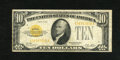 Small Size:Gold Certificates, Fr. 2400 $10 1928 Gold Certificate. Fine.. This $10 Gold has sound edges and paper for the grade....