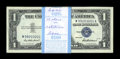 Small Size:Silver Certificates, Fr. 1619 $1 1957 Silver Certificates. Original Pack of 100. Very Choice Crisp Uncirculated.. Fifteen Star notes are sprinkle... (Total: 100 notes)