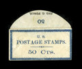 Encased Postage: , Postage Stamp Envelope 50¢ JNO. Force Brooklyn, NY About New.Listed in Krause and Lemke as number KL34-50, this very rare i...