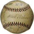 Autographs:Baseballs, 1932 Brooklyn Dodgers Team Signed Baseball. There are many reasonsto fall in love with this rare sphere, but perhaps none ...
