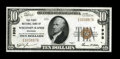 National Bank Notes, Wisconsin Rapids, WI - $10 1929 Ty. 1 The First NB Ch. # 1998...