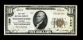 National Bank Notes:Wisconsin, Grand Rapids, WI - $10 1929 Ty. 1 The First NB Ch. # 1998. A pleasingly original piece with solid, even margins. Choic...