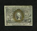 Fractional Currency:Second Issue, Fr. 1286 25c Second Issue New. A reflective bronze oval is found on this note that has adhesive residue along the top edge. ...