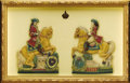 Royal Memorabilia, Pair of Imperial Austro-Hungarian Painted Wax Figures. Circa1790. Colorfully painted in enamels, depicting an imperia...(Total: 2 Items)