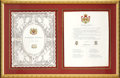 Royal Memorabilia, Original Sheets from the Wedding Announcement of Princess Helena,Daughter of Queen Victoria. Printed frontispiece and pag...