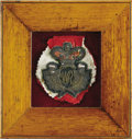 Royal Memorabilia:British, Embroidered Military Insignia of King William IV . A militaryembroidered insignia of William IV, King of Britain (r. 183...