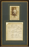 Royal Memorabilia, Signed Note from Frederick William, Crown Prince of Germany andPrussia. Attractively framed note signed by the Monarch, d...(Total: 2 Items)