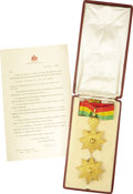 Autographs:Non-American, Insignia of the Order of the Star of Ethiopia (2nd Class), Empireof Ethiopia,... (Total: 2 Items)