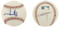 Autographs:Baseballs, American League MVP's Single Signed Baseballs Lot of 2. The lotconsists of two OML (Selig) baseballs signed by former Amer...