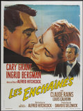 """Movie Posters:Hitchcock, Notorious (Les Films Galatee, R-1960s). French Grande (47"""" X 63"""").Hitchcock...."""