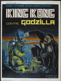 "Movie Posters:Science Fiction, King Kong vs. Godzilla (Universal, 1963). French Grande (47"" X63""). Science Fiction...."