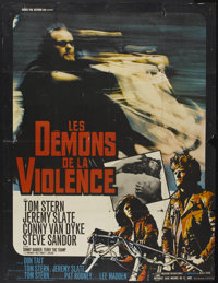 """Hell's Angels '69 (CEDIC, 1969). French Grande (46"""" X 60""""). Action"""
