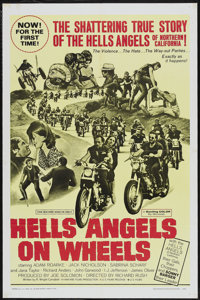 "Hells Angels on Wheels (Fanfare, 1967). One Sheet (27"" X 41""). Cult Classic"