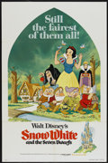 """Movie Posters:Animated, Snow White and the Seven Dwarfs (Buena Vista, R-1975). One Sheet(27"""" X 41""""). Animated...."""