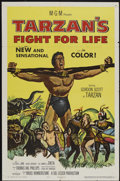 "Movie Posters:Adventure, Tarzan's Fight for Life (MGM, 1958). One Sheet (27"" X 41"").Adventure...."
