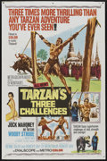 "Movie Posters:Adventure, Tarzan's Three Challenges (MGM, 1963). One Sheet (27"" X 41"").Adventure...."