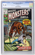 Bronze Age (1970-1979):Horror, Where Monsters Dwell #4 (Marvel, 1970) CGC NM 9.4 White pages....