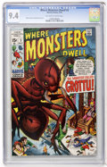 Bronze Age (1970-1979):Horror, Where Monsters Dwell #3 (Marvel, 1970) CGC NM 9.4 Off-white towhite pages....