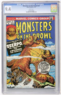 Bronze Age (1970-1979):Horror, Monsters on the Prowl #27 (Marvel, 1973) CGC NM 9.4 White pages....