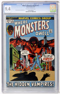 Bronze Age (1970-1979):Horror, Where Monsters Dwell #17 (Marvel, 1972) CGC NM 9.4 Off-white towhite pages....