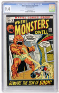 Bronze Age (1970-1979):Horror, Where Monsters Dwell #16 (Marvel, 1972) CGC NM 9.4 Off-white towhite pages....