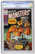 Bronze Age (1970-1979):Horror, Where Monsters Dwell #10 (Marvel, 1971) CGC NM 9.4 Off-white towhite pages....