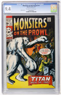 Bronze Age (1970-1979):Horror, Monsters on the Prowl #11 (Marvel, 1971) CGC NM 9.4 Off-white towhite pages....