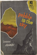 Books:First Editions, Isaac Asimov. Pebble in the Sky. Garden City, New York:Doubleday and Company, Inc., 1950....