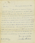 Autographs:U.S. Presidents, James Buchanan Autograph Letter Signed as Senator....