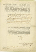 Autographs:Non-American, King Don Carlos V, Carlist Claimant to the Throne of Spain,Document Signed,...