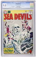 Silver Age (1956-1969):Adventure, Sea Devils #7 (DC, 1962) CGC VF/NM 9.0 Off-white to white pages....