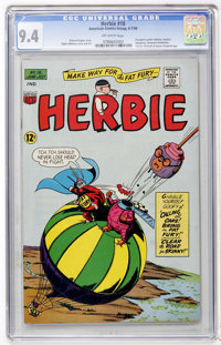 Herbie #18 (ACG, 1966) CGC NM 9.4 Off-white pages