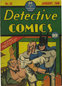 Detective Comics #35 Front Cover Only (DC, 1940)