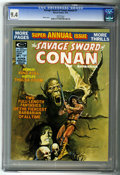 Magazines:Superhero, Savage Sword of Conan Annual #1 (Marvel, 1975) CGC NM 9.4 Whitepages....