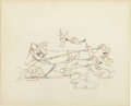 "Animation Art:Production Drawing, ""Snow White and the Seven Dwarfs"" Grumpy Pencil Animation DrawingOriginal Art (Disney, 1937). ..."