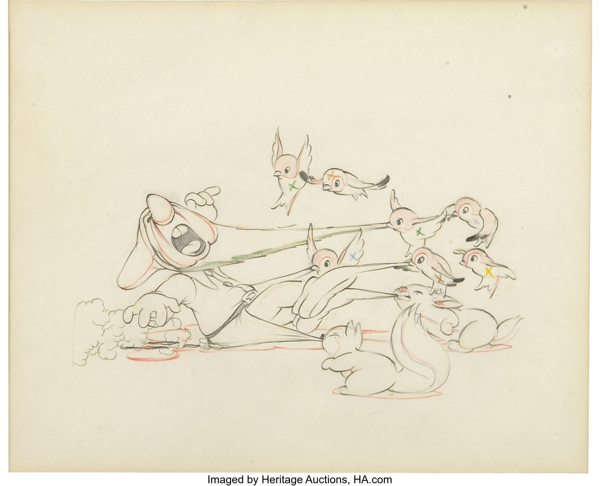 Snow white and the seven dwarfs grumpy pencil animation drawing