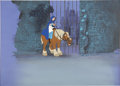 "Animation Art:Production Cel, ""Beauty and the Beast"" Belle Animation Production Cel Set-Up with Background Original Art (Disney, 1991). ..."