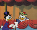 """Animation Art:Production Cel, """"Duck Tales"""" Uncle Scrooge and Flintheart Glomgold Animation Production Cel Set-Up Original Art (Disney, 1987). ..."""