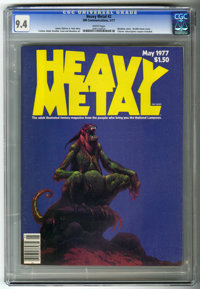 Heavy Metal #2 (HM Communications, 1977) CGC NM 9.4 White pages