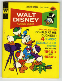Walt Disney Comics Digest #44 Signed by Carl Barks (Gold Key, 1971) Condition: NM