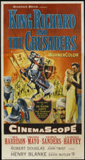 "Movie Posters:Adventure, King Richard and the Crusaders (Warner Brothers, 1954). Three Sheet(41"" X 81""). Adventure...."