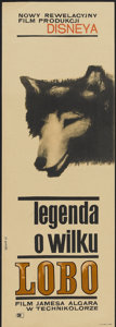 "Movie Posters:Adventure, The Legend of Lobo (Buena Vista, 1964). Polish Insert (11"" X 33""). Adventure...."