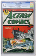 Golden Age (1938-1955):Superhero, Action Comics #11 (DC, 1939) CGC FN/VF 7.0 Cream to off-white pages....