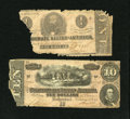 Confederate Notes:1863 Issues, T62 $1 1863 Poor.. T68 $10 1864 About Good.. ... (Total: 2 notes)