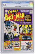 Silver Age (1956-1969):Superhero, Batman Annual #1 Mohawk Valley pedigree (DC, 1961) CGC NM 9.4Off-white pages....